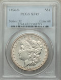 Morgan Dollars: , 1896-S $1 XF45 PCGS. PCGS Population: (278/2094). NGC Census: (180/1066). CDN: $335 Whsle. Bid for problem-free NGC/PCGS XF...