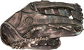 Autographs:Baseballs, 1995 Michael Jordan Silver Baseball Glove Created for his 32nd Birthday....