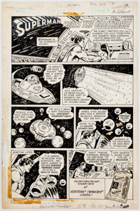 """Curt Swan and Tex Blaisdell Hostess Twinkies Ad Complete 1-Page Story """"Superman Meets the Orbitrons!"""" Original..."""