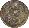 Ancients:Roman Imperial, Ancients: Commodus (AD 177-192). AE medallion (40mm, 53.33 gm, 11h). NGC AU 5/5 - 2/5, Fine Style....
