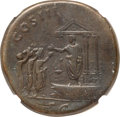 Ancients:Roman Imperial, Ancients: Hadrian (AD 117-138). AE sestertius (33mm, 27.88 gm, 6h). NGC Fine 5/5 - 5/5....