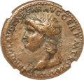 Ancients:Roman Imperial, Ancients: Nero (AD 54-68). AE sestertius (35mm, 26.55 gm, 6h). NGC Choice VF 4/5 - 3/5....