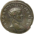 Ancients:Roman Imperial, Ancients: Divus Caracalla (died AD 217). AE sestertius (32mm, 27.19 gm, 12h). NGC Choice VF 4/5 - 3/5, Fine Style, smoothing....