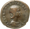 Ancients:Roman Imperial, Ancients: Julia Soaemias (AD 218-222). AE sestertius (33mm, 26.35gm, 1h). NGC VF ★ 4/5 - 5/5....