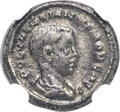 Ancients:Roman Imperial, Ancients: Valerian II, as Caesar (AD 256-258). BI quinarius (14mm,1.73 gm, 6h). NGC XF 4/5 - 4/5....