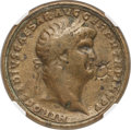 Ancients:Roman Imperial, Ancients: Contorniates. AD mid-4th-early 5th centuries. In the name of Nero. AE (36mm, 24.06 gm, 12h). NGC VF 5/5 - 4/5....