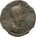 Ancients:Roman Imperial, Ancients: Julia Paula (AD 219-220). AE sestertius (30mm, 21.24 gm, 1h). NGC Choice Fine ★ 5/5 - 5/5....