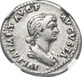 Ancients:Roman Imperial, Ancients: Julia Titi (ca. AD 79-90/1). AR denarius (19mm, 3.42 gm,6h). NGC VF 4/5 - 4/5....