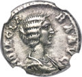 Ancients:Roman Imperial, Ancients: Didia Clara (April-June AD 193). AR denarius (17mm, 3.30 gm, 12h). NGC Choice VF 4/5 - 4/5....