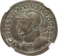 Ancients:Roman Imperial, Ancients: Constantius I, as Caesar (AD 305-306). BI follis ornummus (28mm, 10.59 gm, 6h). NGC XF 5/5 - 4/5....