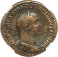 Ancients:Roman Imperial, Ancients: Gordian II Africanus (March-April AD 238). AE sestertius(30mm, 17.21 gm, 1h). NGC VF 4/5 - 4/5....