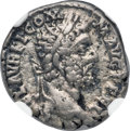 Ancients:Roman Imperial, Ancients: Commodus (AD 177-192). AR denarius (18mm, 3.35 gm, 12h).NGC VF 4/5 - 3/5....