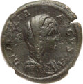 Ancients:Roman Imperial, Ancients: Diva Julia Domna (died AD 217). AE sestertius (32mm,23.09 gm, 12h). NGC VF 4/5 - 3/5....