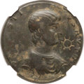 Ancients:Roman Imperial, Ancients: Contorniates. AD mid-4th-early 5th centuries. In the name of Sallust. AE (36mm, 17.87 gm, 1h). NGC Choice Fine 4/5 - 3/5, graf...
