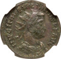 Ancients:Roman Imperial, Ancients: Julian of Pannonia (usurper, AD 284-285). AE antoninianus (21mm, 3.54 gm, 1h). NGC AU 5/5 - 2/5....