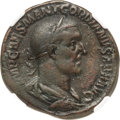 Ancients:Roman Imperial, Ancients: Gordian I Africanus (AD 238). AE sestertius (29mm, 15.09 gm, 1h). NGC VF ★ 5/5 - 4/5....