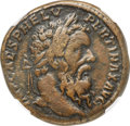 Ancients:Roman Imperial, Ancients: Pertinax (AD 193). AE sestertius (31mm, 24.79 gm, 6h).NGC VF 4/5 - 4/5, Fine Style....