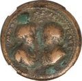 Ancients:Roman Imperial, Ancients: Commodus and Annius Verus (AD 166-169). AE medallion(40mm, 54.48 gm, 12h). NGC VG 5/5 - 2/5....