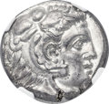 Ancients: SICILY. Siculo-Punic. Ca. 300-289 BC. AR tetradrachm (24mm, 16.90 gm, 10h). NGC Choice AU 4/5 - 4/5