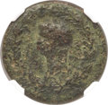 Ancients:Roman Imperial, Ancients: ROMAN EMPIRE. Anonymous. Ca. early 1st Century AD. AE tessera (24mm, 7.61 gm, 7h). NGC VF 5/5 - 2/5....
