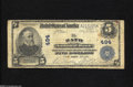 National Bank Notes:Maine, Bath, ME - $5 1902 Plain Back Fr. 598 The Bath NB Ch. # 494 Whilehardly rare, large examples from here are seldom ava...