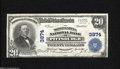 National Bank Notes:Pennsylvania, Pittsburgh, PA - $20 1902 Plain Back Fr. 652 The Monongahela NB Ch. # 3874 This bright note with nice color is graced ...