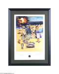 Autographs:U.S. Presidents, Large, Limited Edition Framed Desert Storm Print, Signed by George H. W. Bush, Colin Powell, and Norman Schwarzkopf...