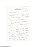 Autographs:U.S. Presidents, Superb and Personal President George H. W. Bush Autograph LetterSigned...