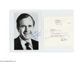 Autographs:U.S. Presidents, 1980 George H. W. Bush Typed Letter Signed and Signed Photo...