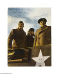 Autographs:U.S. Presidents, Dwight D. Eisenhower and Bernard Law Montgomery Signed Photo...
