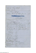 Autographs:U.S. Presidents, James A. Garfield and 19 Other Congressmen 1866 Document Signed...