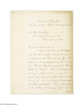 Autographs:U.S. Presidents, Exceptionally Rare James Garfield Letter Signed as President...