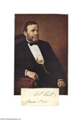 Autographs:U.S. Presidents, Ulysses S. Grant 1881 Dated Signature... (2 items)