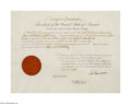 Autographs:U.S. Presidents, Benjamin Harrison, Signed Document as President...