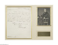 Autographs:U.S. Presidents, William Henry Harrison Referencing Prosperity of the West...