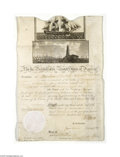 Autographs:U.S. Presidents, Thomas Jefferson and James Madison Signed Ship's Passport, 1807...