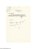 Autographs:U.S. Presidents, A Lyndon Johnson Four-line Autograph Letter Signed on White House Stationery -- Suitable Substitute to Complete a Presidential C...