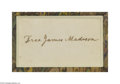 Autographs:U.S. Presidents, James Madison...