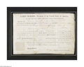 Autographs:U.S. Presidents, James Madison Signed Document as President...