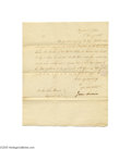 Autographs:U.S. Presidents, James Madison 1806 Signed Letter as Secretary of State...