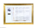Autographs:U.S. Presidents, Framed Ship's Papers Document in Four Languages, Signed byPresident James Madison...
