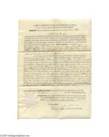 Autographs:U.S. Presidents, Exceptionally Nice James Madison Signed Land Grant...