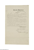 Autographs:U.S. Presidents, William McKinley 1898 Chickasaw Nation Act Signed... (3 Items)