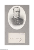 Autographs:U.S. Presidents, William McKinley...