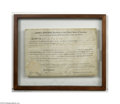 Autographs:U.S. Presidents, James Monroe Signed Document as President...