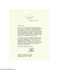 Autographs:U.S. Presidents, Richard Nixon White House Letter on Vietnam...