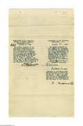 Autographs:U.S. Presidents, Theodore Roosevelt Signed Documents Regarding Native Americans...
