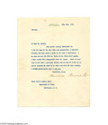 Autographs:U.S. Presidents, A Theodore Roosevelt Letter with Excellent Political Content Regarding William Jennings Bryan...