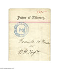 Autographs:U.S. Presidents, William Howard Taft Signed Power of Attorney...