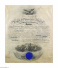 Autographs:U.S. Presidents, President William Howard Taft Signed Naval Appointment 1911...